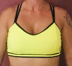 321 Neon Yellow/ Black Sports Bra
