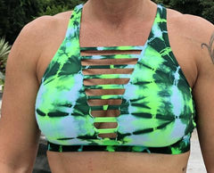321 Green/ Mint Tie Dye Sports Bra