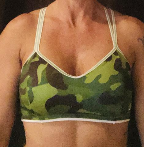 321 Green/ White Camo Sports Bra