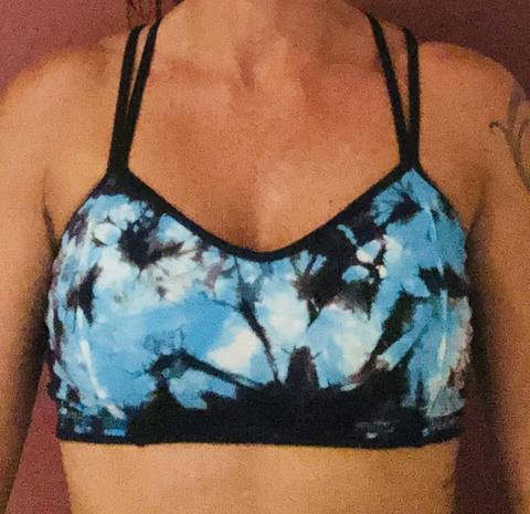 321 Blue/ Black Splash Sports Bra