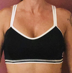 321 Black/White Sports Bra