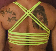 321 Purple/ Neon Green Sports Bra