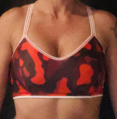 321 Red/ White Camo Sports Bra