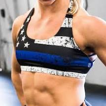 THIN BLUE LINE VITALITY SPORTS BRA (POLICE EDITION)