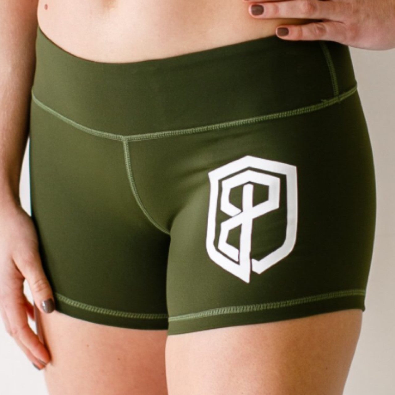 Double Take Booty Shorts (Tactical Green)
