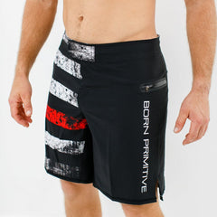American Defender Shorts 2.0 (Thin Red Line Firefighter Edition)