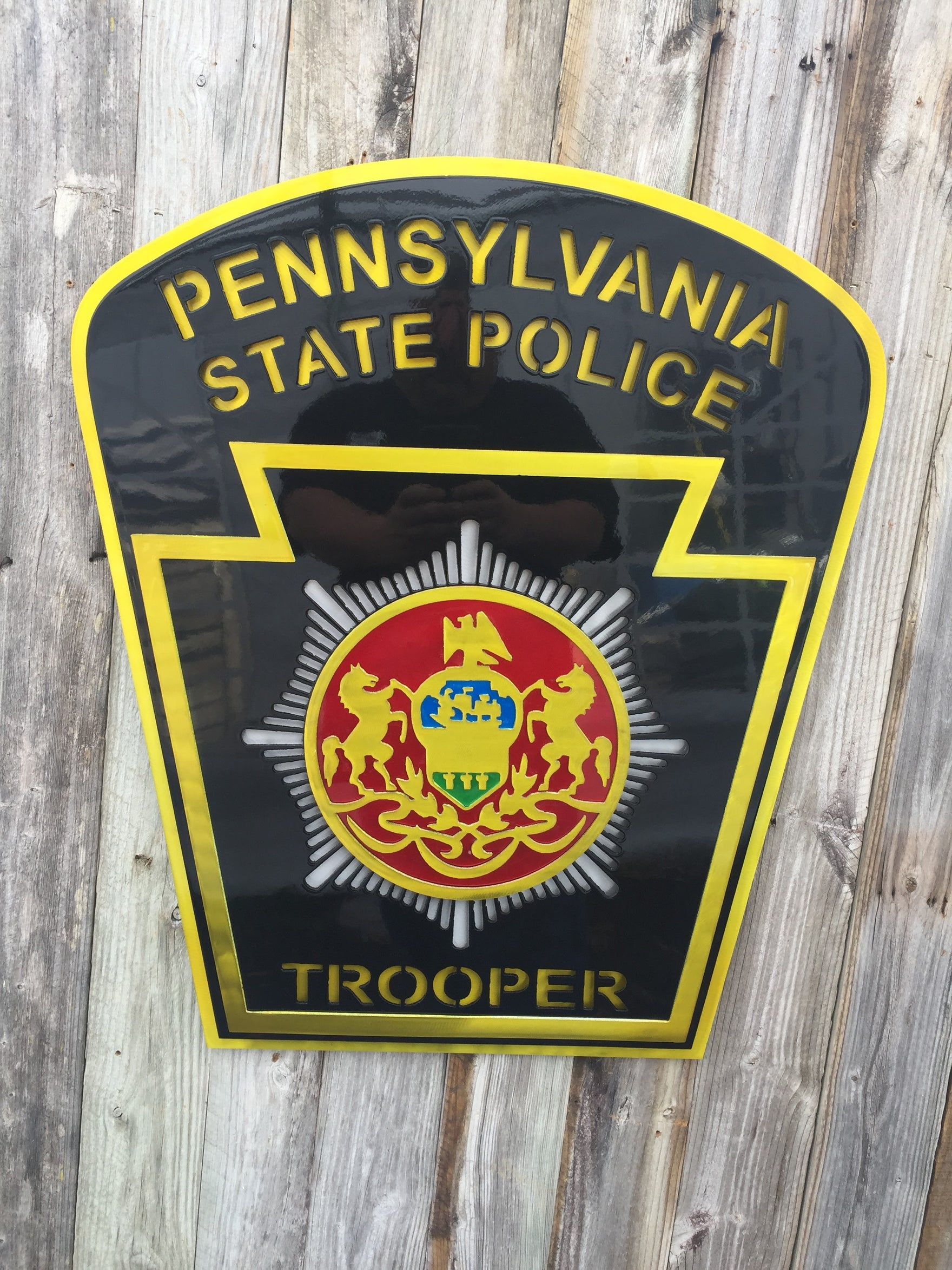 Pennsylvania State Trooper Badge Metal Art