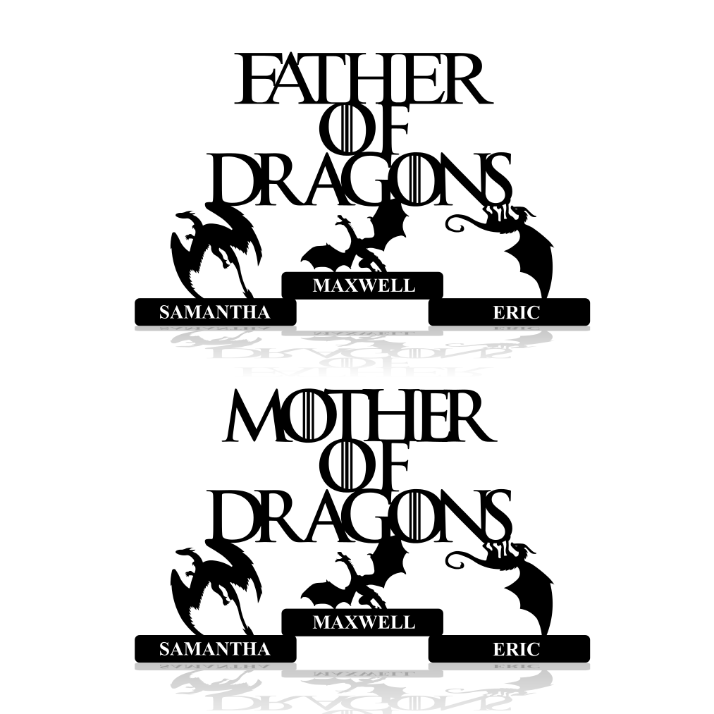 Mother or Father of Dragons Game of Thrones Theme Metal