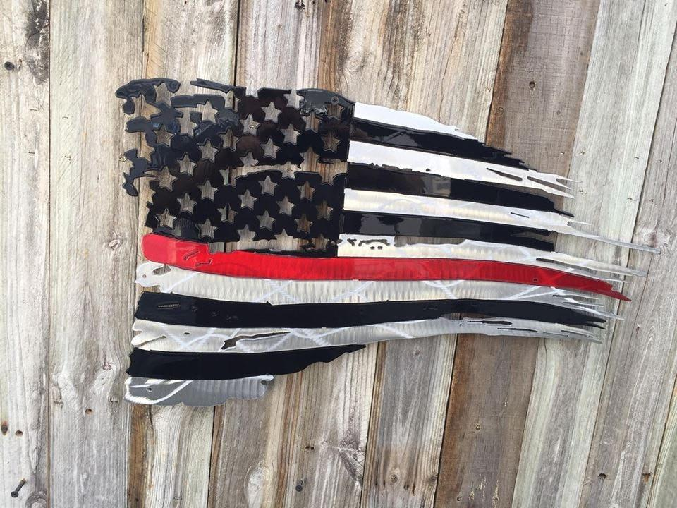 Thin Blue Line First Responders Tattered Amp Torn American