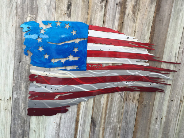 All Star Automotive >> Betsy Ross 1776 Tattered and Torn American Flag metal art - Advanced Metal Art