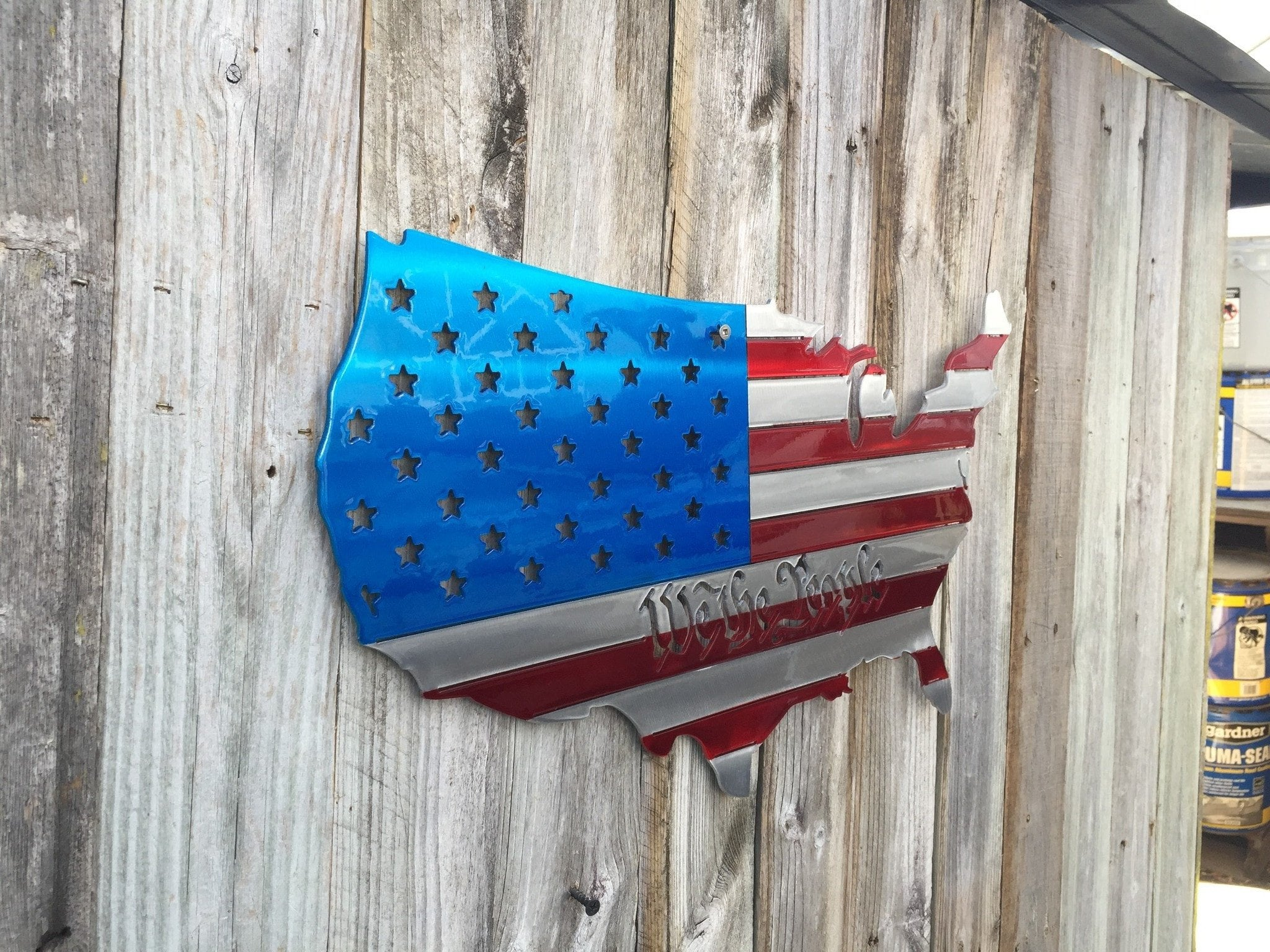 We The People Usa Map Painted As An American Flag Personalized Custo Advanced Metal Art