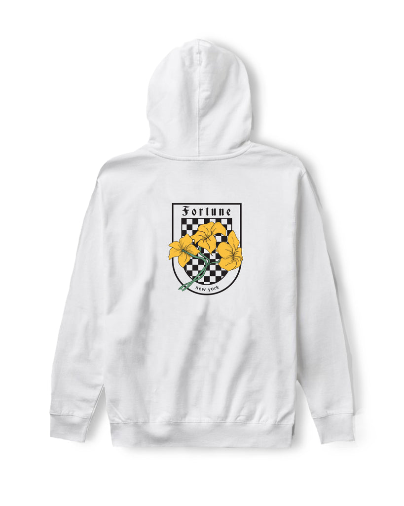 Checkered Lilly White Hoodie