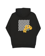Black Checkered Lilly Hoodie