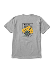 Grey Checkered Lilly Tee