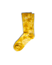 Yellow Tie-Dye Socks