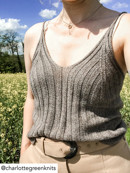 Camisole No 02 - my favourite things knitwear - knitloop Shiny Yak