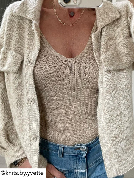 Camisole No 04 - my favourite things knitwear - knitloop shiny yak