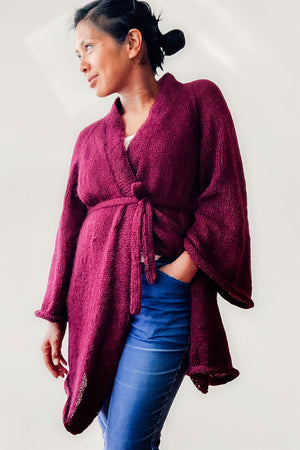 Commodus Home Robe by Statdkindknits (long version) - wool package