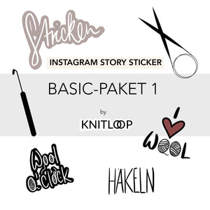 Insta-Story-Sticker 'Basic-Paket 1'