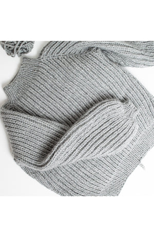 Helsinki Sweater Strickset |KNITLOOP - Patentmuster-Pullover stricken