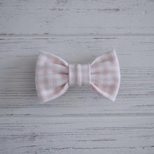 Blush Gingham Bow Tie