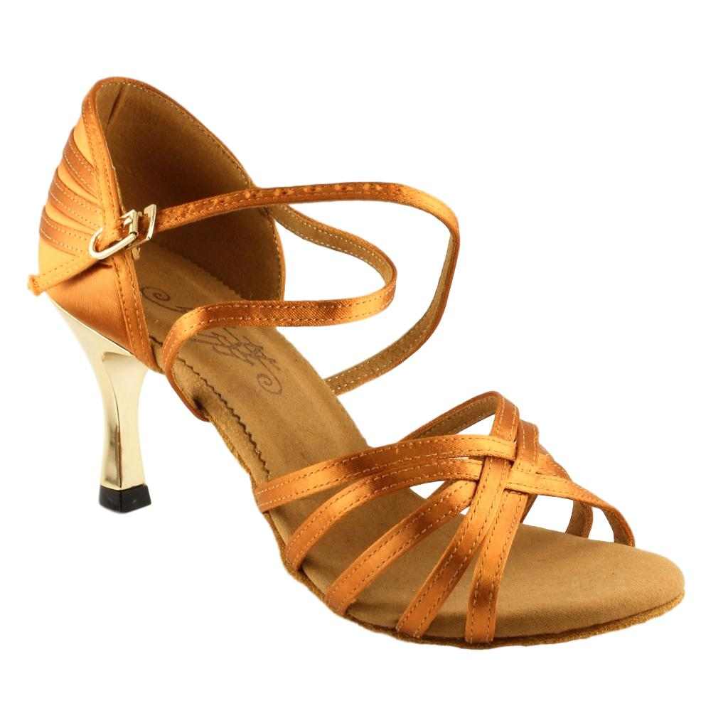 BD Dance Latin Dance Shoes for Women, Model 2324, Heel EH4G
