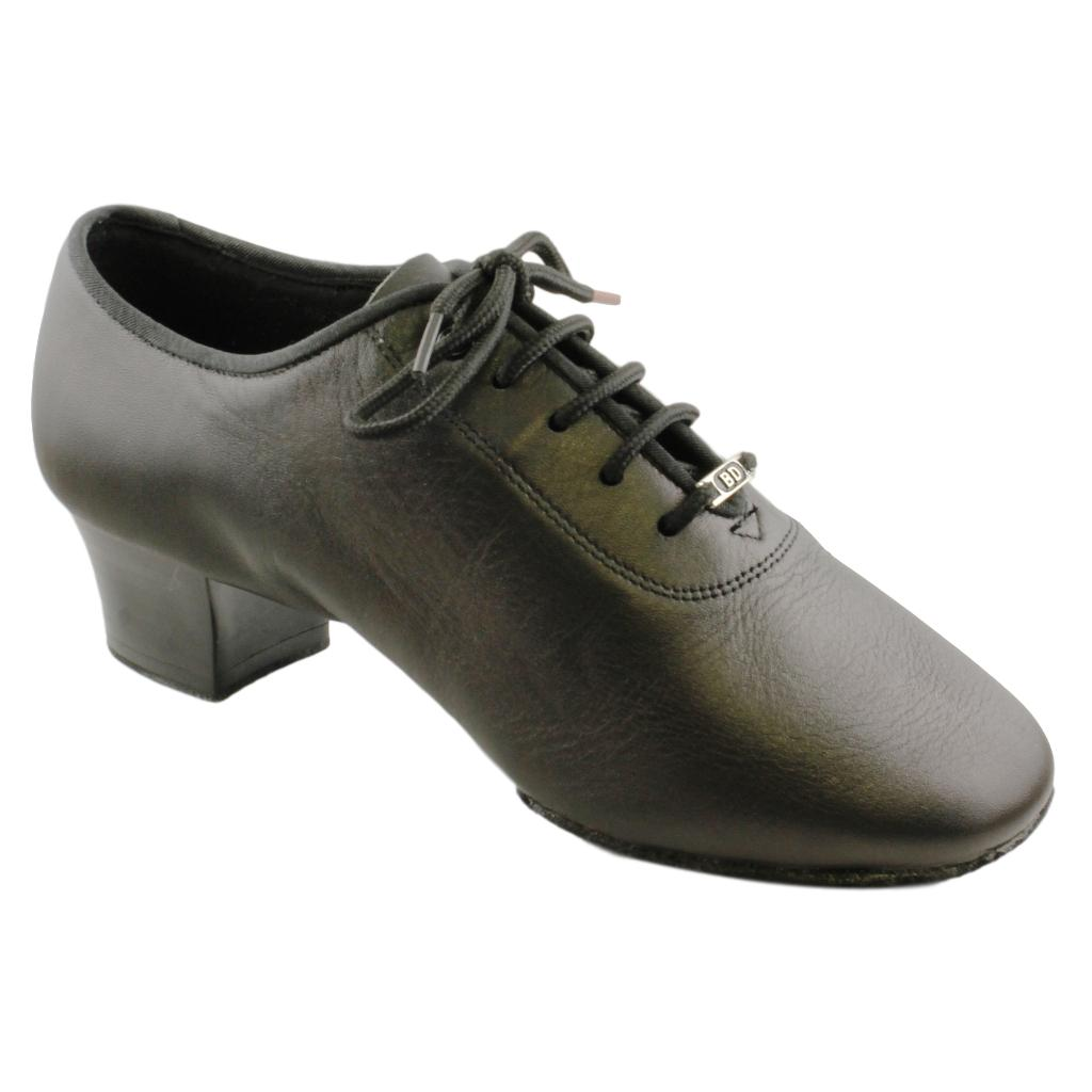 BD Dance Latin Dance Shoes for Men, Model 401, Black Leather