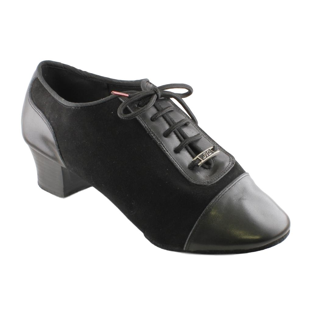 BD Dance Latin Shoes for Men, Model 463, Black Suede Leather