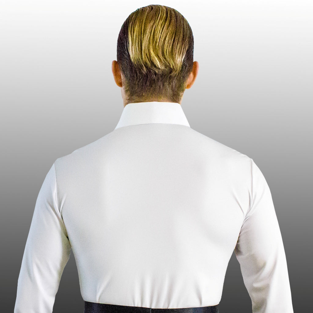 Euro Glam Competition Man's American Smooth Shirt White