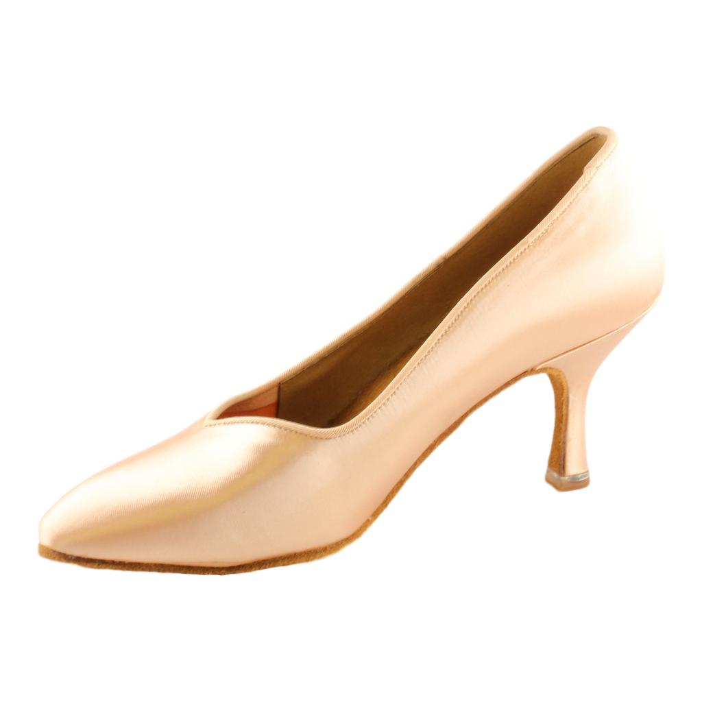BD Dance International Standard Dance Shoes for Women, Model 104, Heel EH4, Light Tan