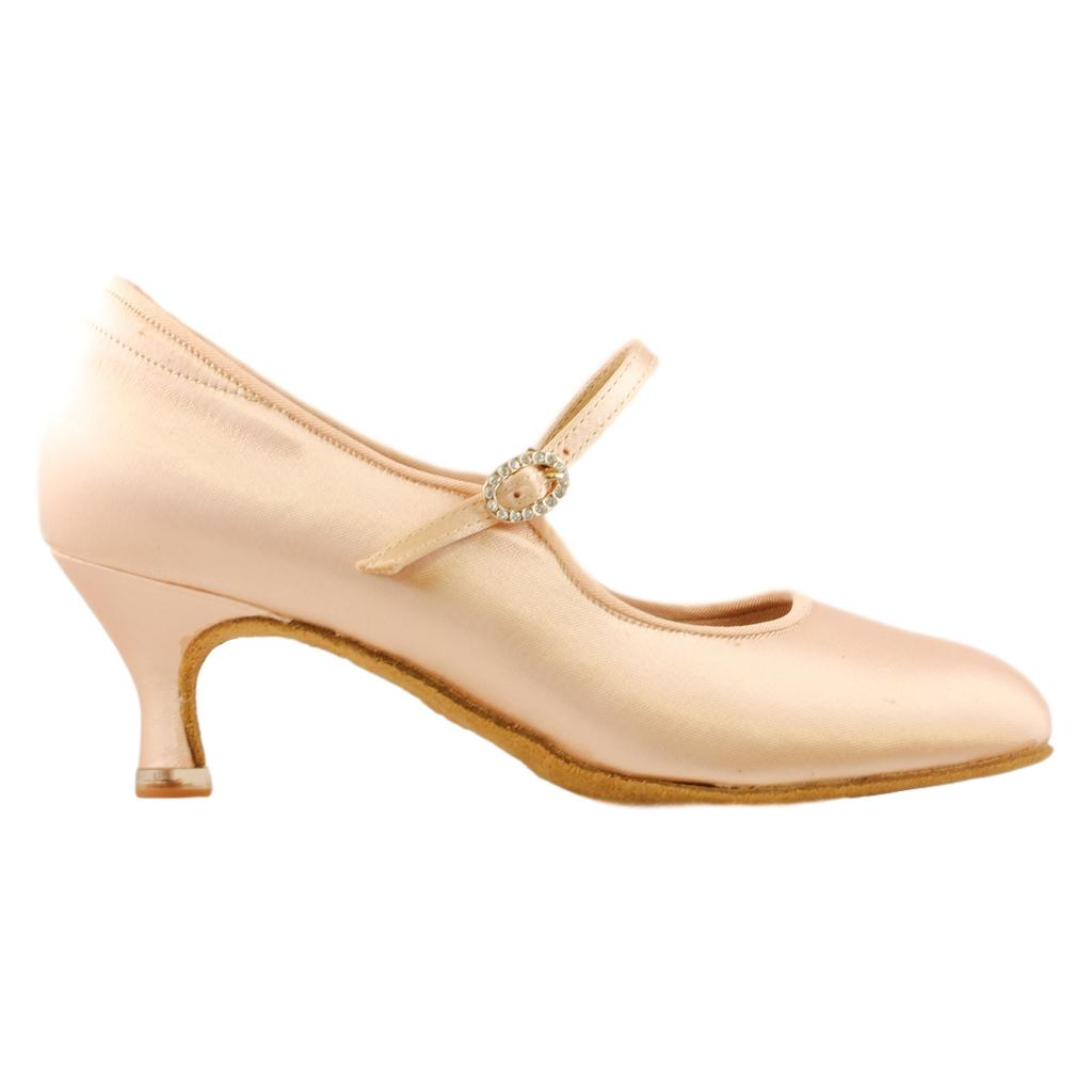 BD Dance International Standard Dance Shoes for Women, Model 137, Heel EH11, Light Tan