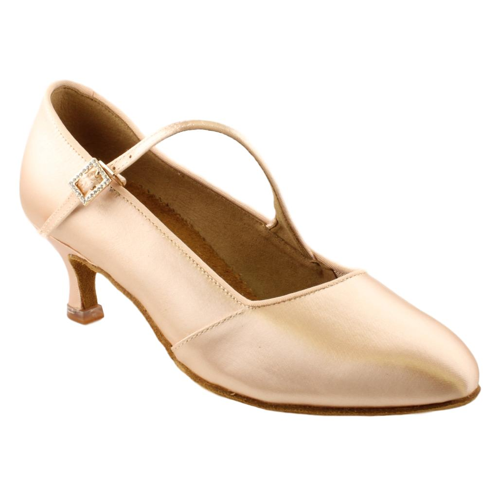 BD Dance International Standard Dance Shoes for Women, Model 149, Heel EH11, Light Tan