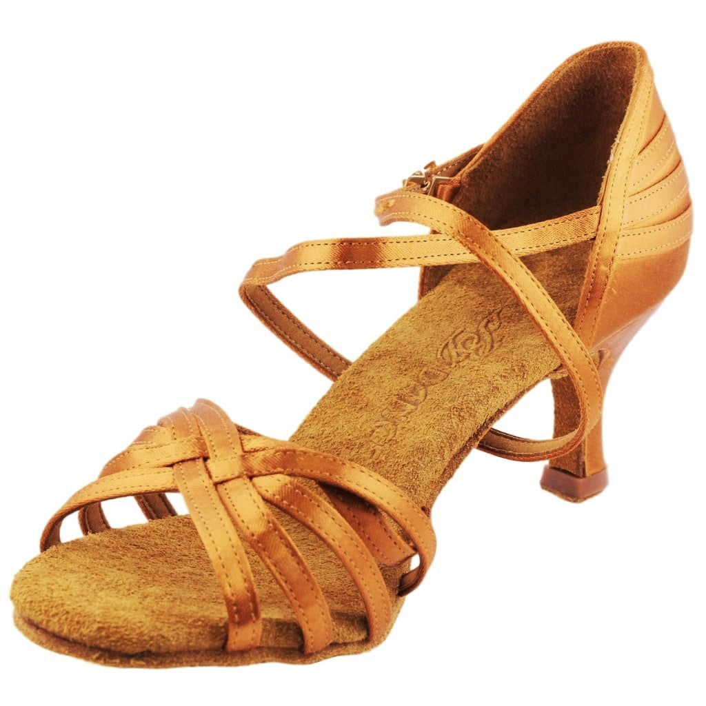 BD Dance Latin-Rhythm Dance Shoes for Ladies, Model 2234, Heel EH10