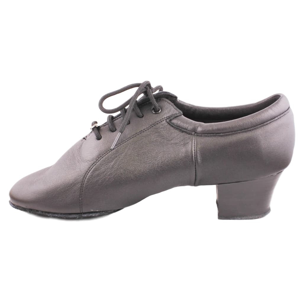 BD Dance Latin-Rhythm Dance Shoes for Men, Model 419, Black Leather
