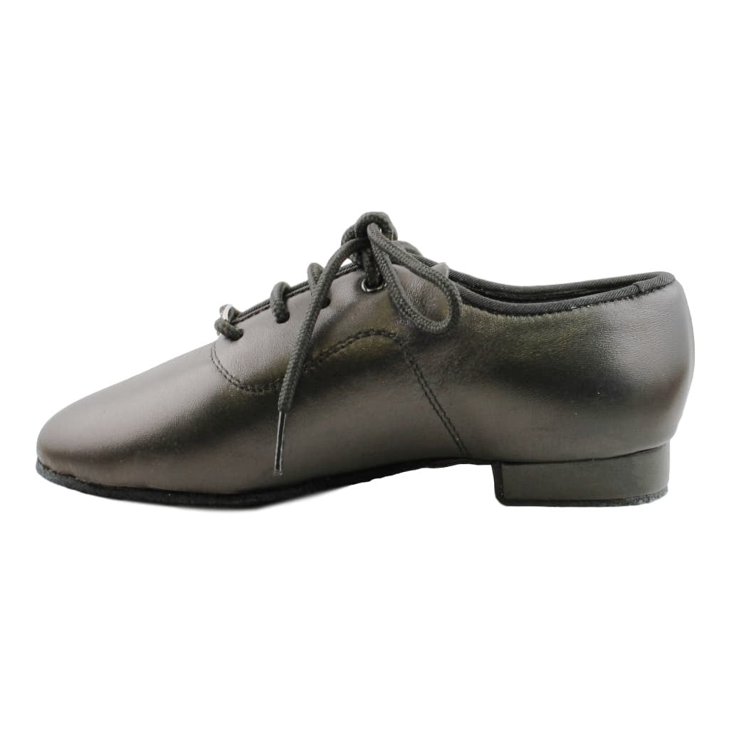BD Dance Standard Dance Shoes for Boys, Model 702, Black Leather