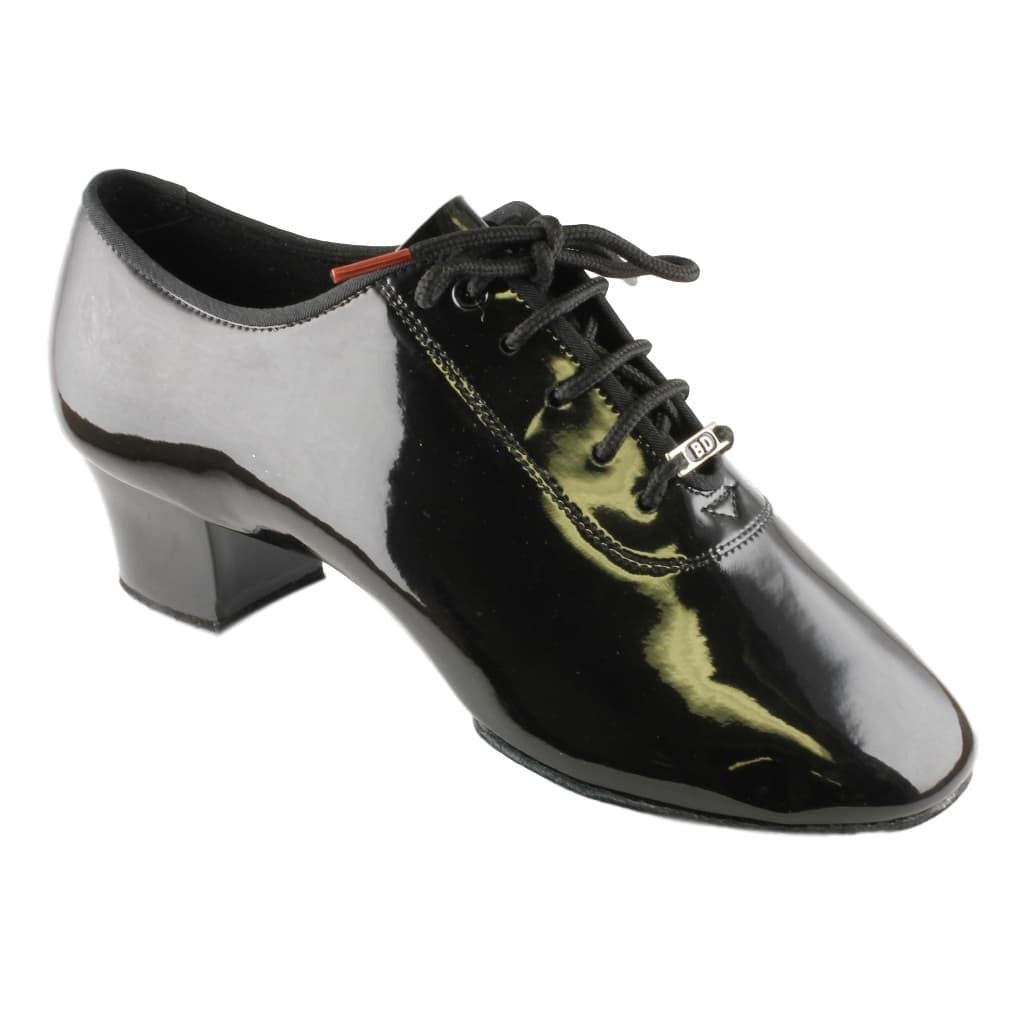 BD Dance Latin Dance Shoes for Men, Model 401, Black Patent Leather
