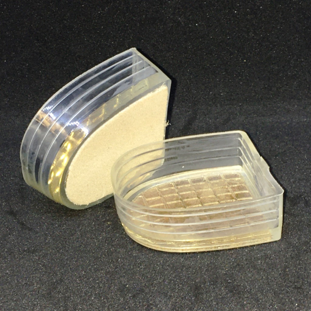 Plastic Heel Protectors with Suede Base - Heel Type CHILD II