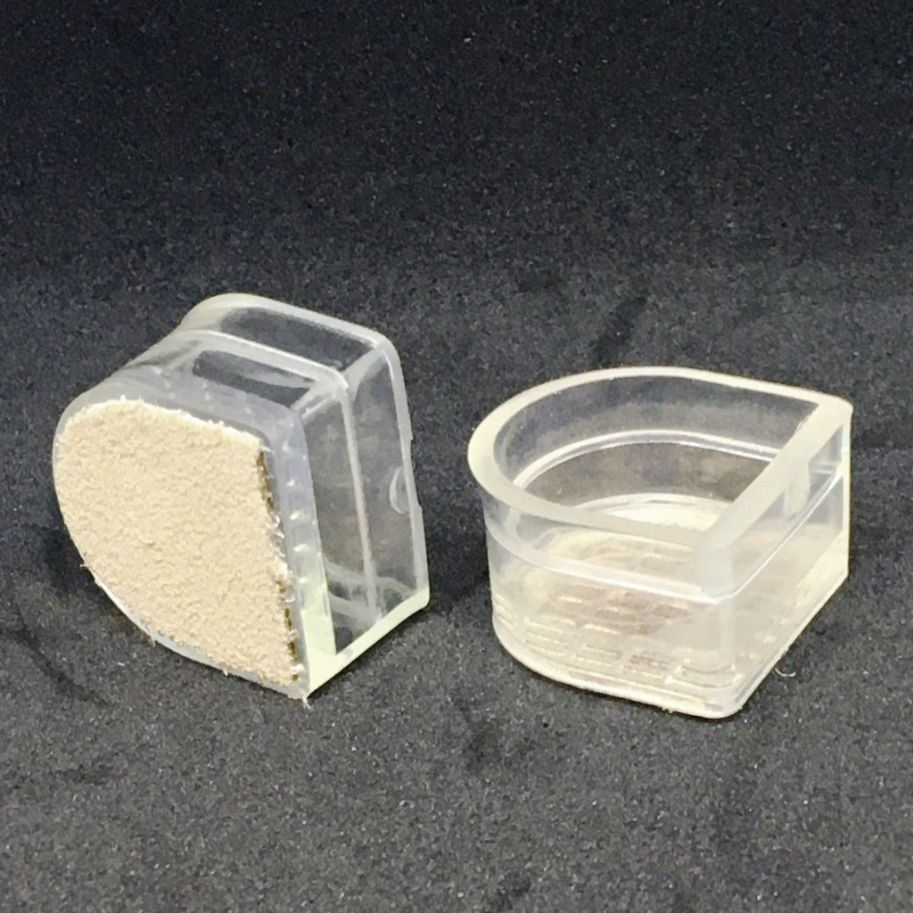 Plastic Heel Protectors with Suede Base - Heel Type CHILD I