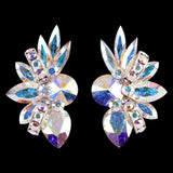 Euro Glam Earrings, Clip-On, Swarovski Crystal AB