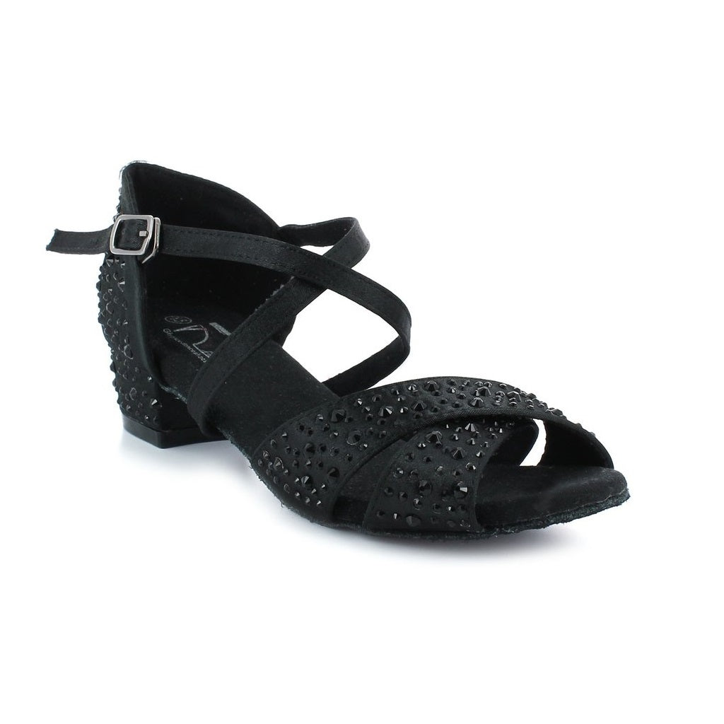 Latin Dance Shoes for Women, Model West Cost Swing, Black