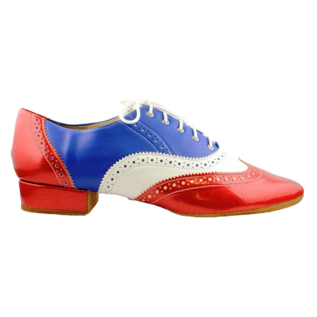 Smooth Men's Red-Blue-White Dance Shoes from Galex