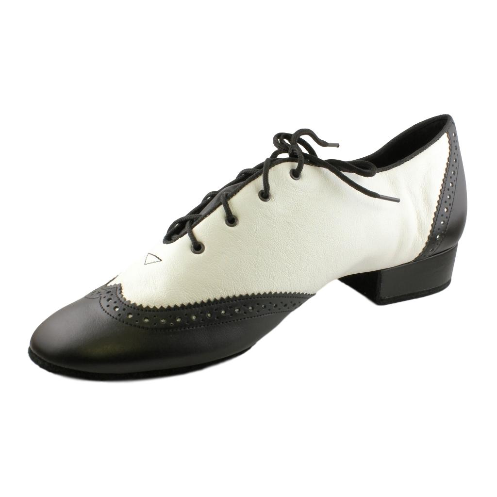 Salsa Black-White Mens Dance Shoes from Galex