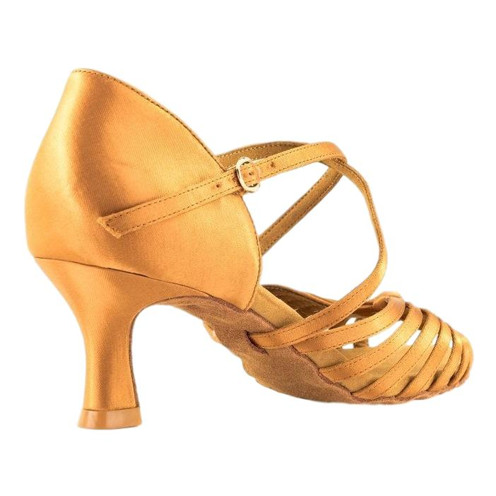 GFranco Latin Dance Shoes for Women, Model Sole, Tan, Heel 2.5""