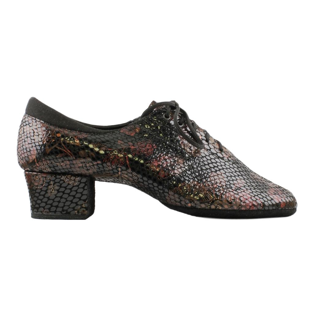 Galex Practice Dance Shoes for Women, Model 1205 Flexi, Shevro Lace