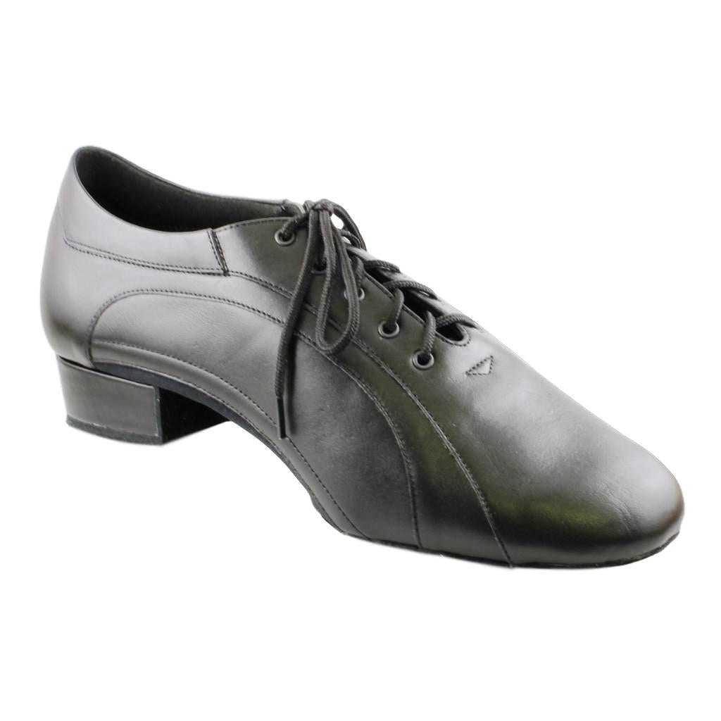 Galex American Smooth Dance Shoes for Men, Model 1115 Franco, Black Leather