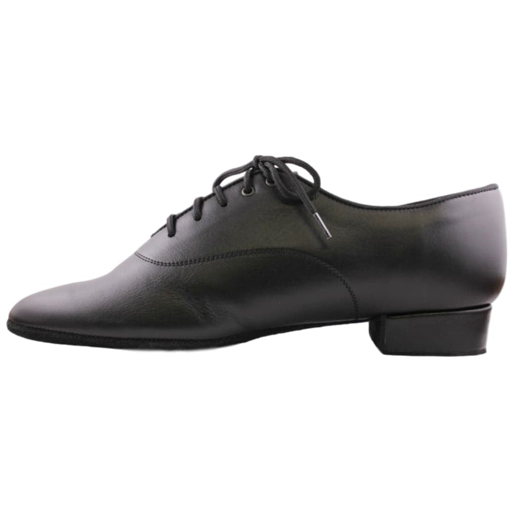 Galex Oxford 1106 Standard Dance Shoes for Men, Black Leather
