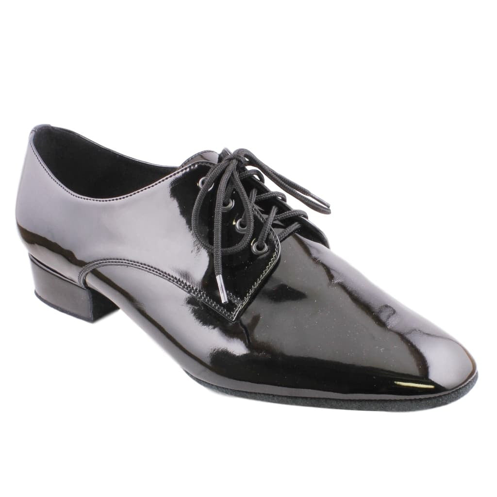 Galex International Standard Dance Shoes for Men, Model 1149 Patron, Black Patent Leather