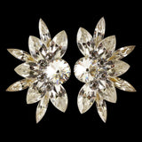 Euro Glam Earrings, Clip-On or Pierced French Clip, Swarovski Crystal AB, Swarovski Crystal