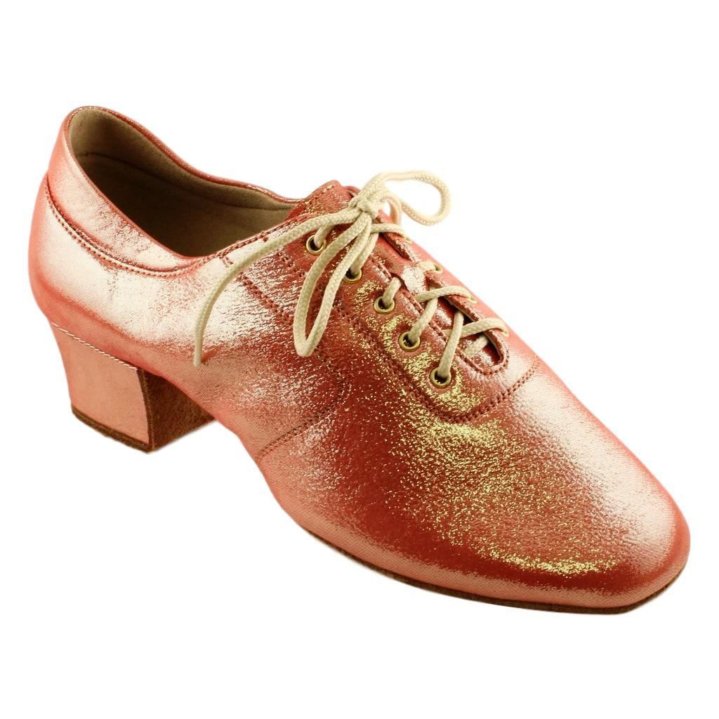 Practice Dance Shoes for Women, Model 1205 Flexi, Leather Red Gold