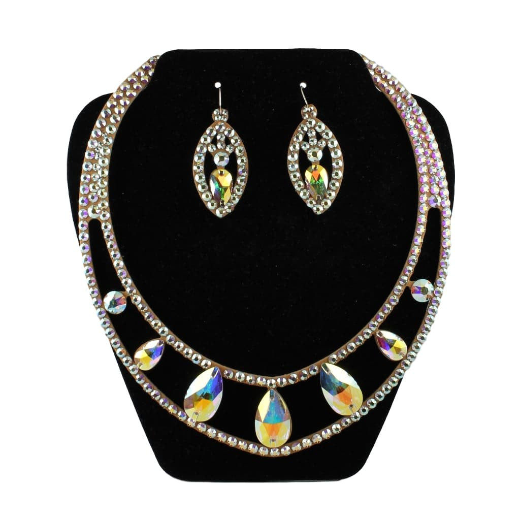 Euro Glam Ballroom Necklace and Earrings Set, Swarovski Crystal AB